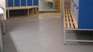 flooring in changing rooms