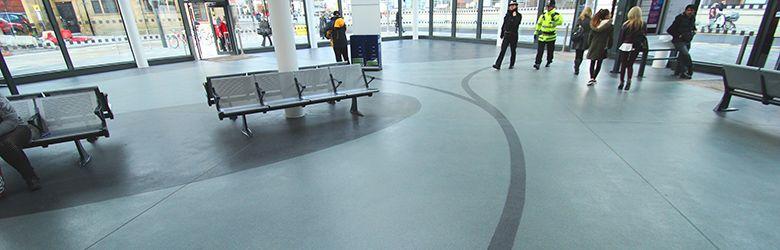 epigard resin flooring used in transport terminals
