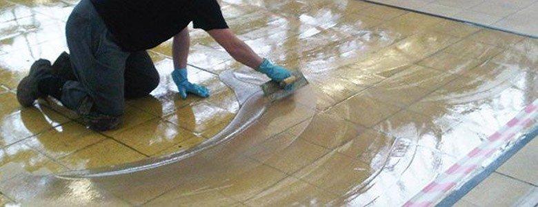 installing an anti-static flooring