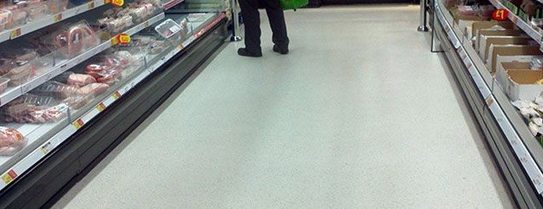 flooring for a supermarket aisle