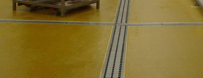 example of floor with drainage