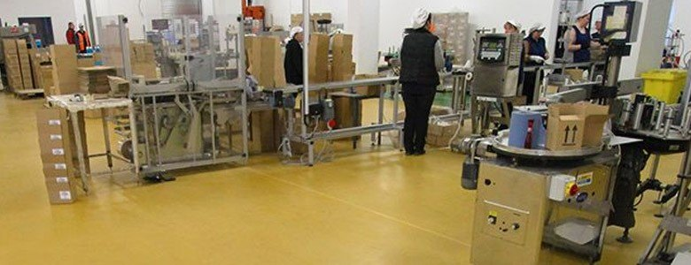 yellow flooring for the pharmaceutical industry