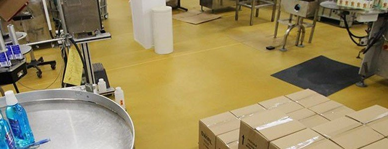 resin floor for pharmaceutical processing