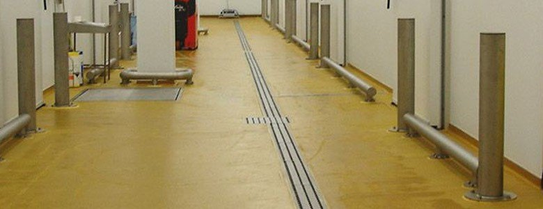 resin flooring and drainage