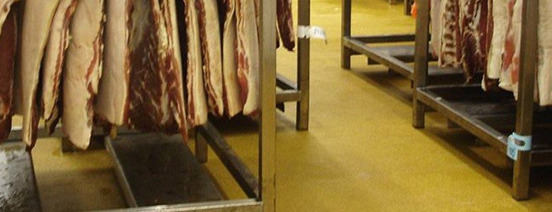 resin flooring in the meat industry