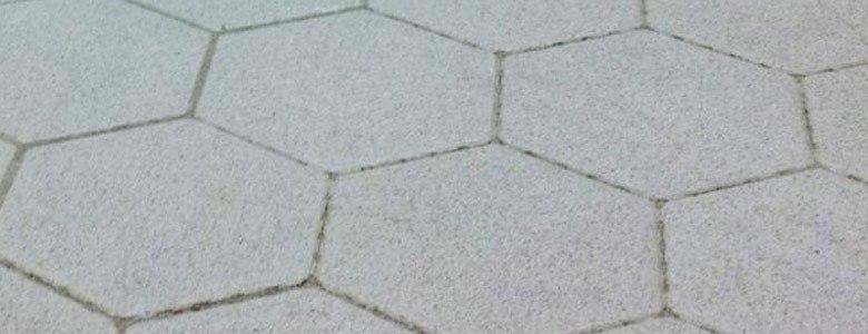 close up of hexagon flooring