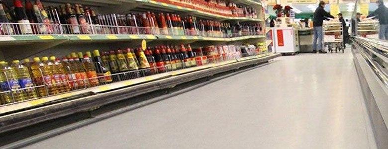 supermarket aisle flooring